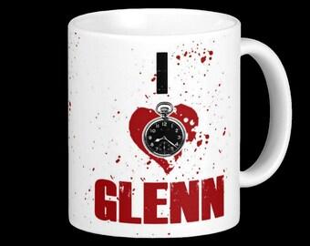 I Love Glenn Mug - For the Zombie loving Coffee Lover - Great Gift!