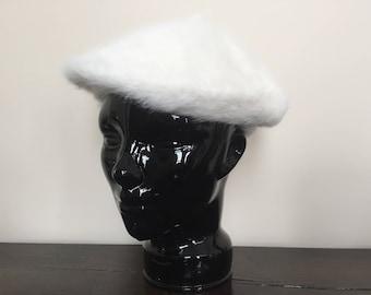 French Beret Hat - Womens Hat - Winter Hat Women - Fur Hat for Women - Vintage Berets Berret Baret - Womens Winter Hats Slouchy Hat Tam Hat