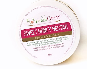 Hair Growth Balm with Sweet Honey Nectar -- MEGA Growth Hair Balm and Scalp Treatment naturellegrow