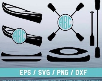 Canoe svg, Canoe  svg file, Canoe  cut file, Canoe silhouette,Canoe cricut, Kayak  svg, Kayak   svg file, Kayak  cut file, Kayak  silhouette