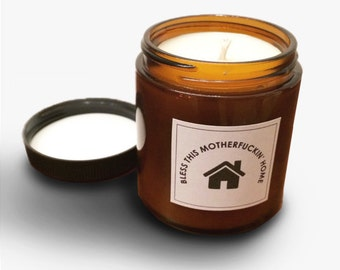 "Funny House ""Warming"" Gift Scented Jar Candle"
