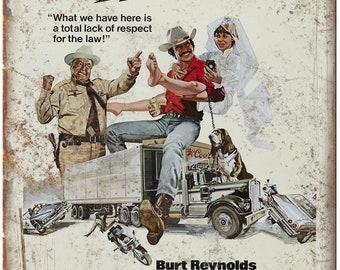 "Smokey and the Bandit Movie Poster Burt Reynolds 10"" x 7"" Retro Look Metal Sign"