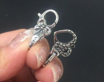 Bow Lock,Heart Lock,Basic Lock 925 Silver