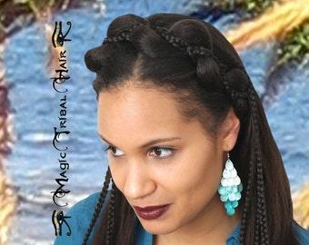 MERMAID BRAID HEADBAND braided custom color hair piece Bride Wedding hair accessory Fantasy Larp Cosplay hair jewelry Bridal tiara headpiece