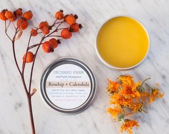 Calendula + Rosehip Salve//Natural Skin Care//Small Batch