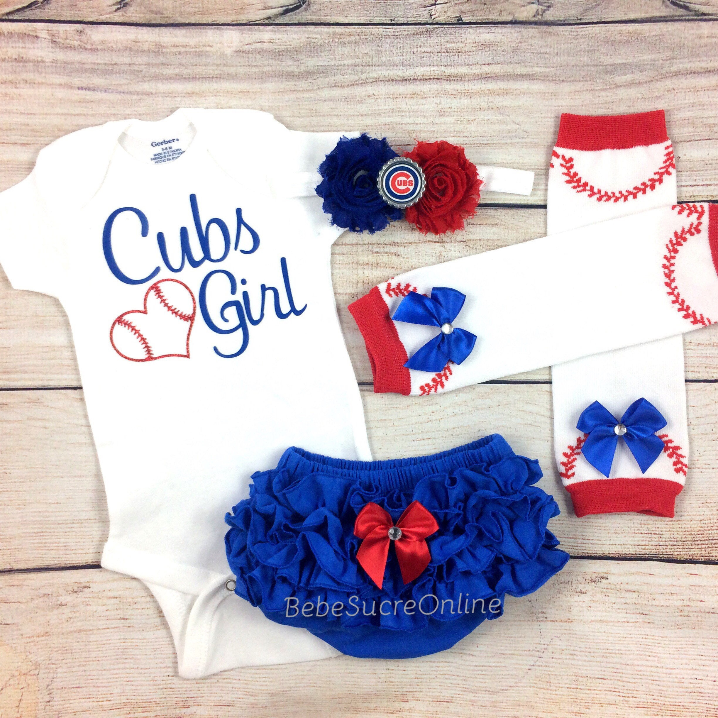 Chicago Cubs Game Day Outfit Cubs Girl Bodysuit