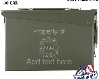 Prepper Personalized Ammo Box Mens Cool Guy Gifts Father's Day Gift Personalized Grandpa Gift Husband Gift Father Gift Groomsmen Hunter