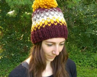 Chunky Knit Fair Isle Hat / Bennet