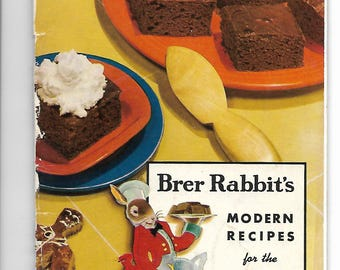 Vintage cookbook Brer Rabbit's Modern Recipes for the Modern Hostess Molasses Cookies Cakes Desserts Candies booklet