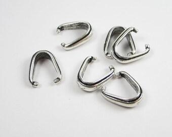 20 Silver Tierracast Nouveau Pinch Bails