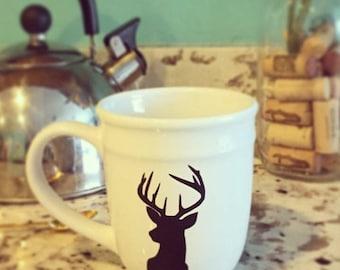 Silhouette Deer Mug