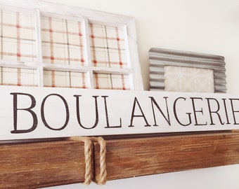 Wood Boulangerie Sign