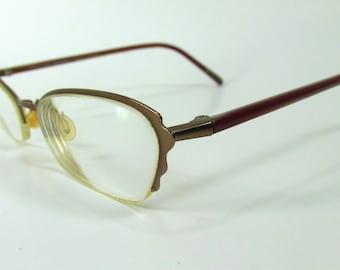 Vintage Titanium Micro Shape Bloom Scalloped Frame Eyeglasses 90's