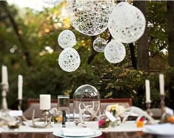 Wedding Decoration Hanging Spheres-Wedding Prop- Wedding Decor-Bohemian Chic Wedding Decoration