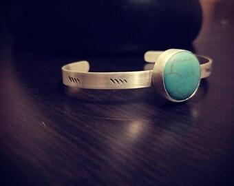 Magnesite cuff bracelet