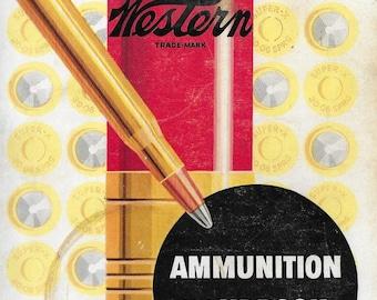 Vintage Mid Century Illustrated Book - Western Ammunition Handbook
