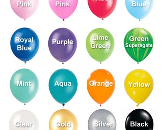 "12"" Solid Color Latex Balloons, Helium Party Balloons, Party Balloons, Wedding Balloons, Bachelorette Balloons, Rubber Balloons"