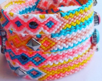 Sun friendship wrap bracelet