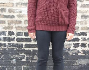 Plum/Burgundy Vintage Sweater