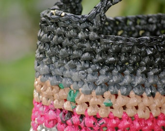 A touch of pink  - Upcycled Hand Bag