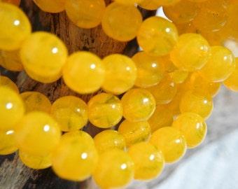 3mm Yellow Opal Druk Bead - Czech Glass Beads - 50 beads - 2703 - 3mm Opal Yellow Round Druk Beads