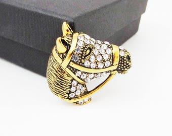 Small Horse Brooch, Gold Horse Brooch, Horse Head Brooch Pin, Horse Pin, Equestrian Jewellery, Equestrian Gift, Horse Jewellery, Horse Gift