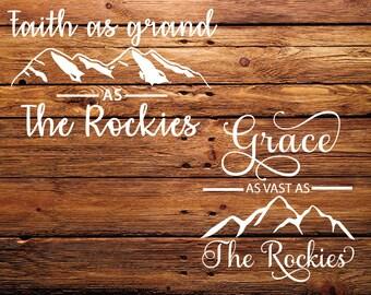 The Rockies SVG