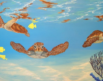 Turtle Reef - Limited Edition Giclee Print