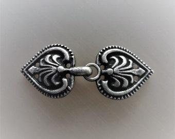 Fancy hook 5 cm sewing metal color blackened steel