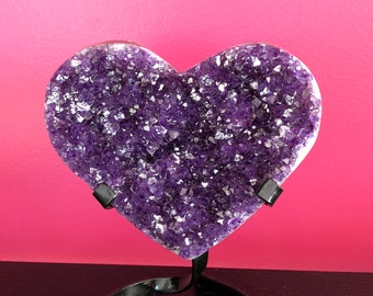 Large Amethyst Crystal / Amethyst Cluster / Amethyst Geode from Uruguay / Mothers Day / Home Decor
