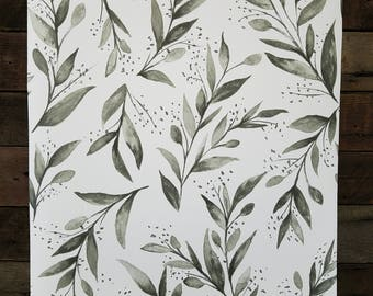 York Wallcovering Magnolia Home Olive Branch Botanical Wallpaper Gray Joanna Gaines ME1537