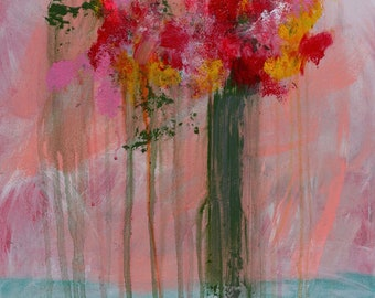 ORIGINAL Abstract Floral Painting. Title: