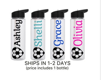 Personalized Soccer Team Gifts Soccer Team Water Bottles Soccer Water Bottles Soccer Gifts Team Gifts Sport Water Bottles