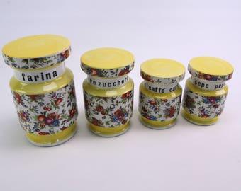 Ceramic 1950s Italian storage jars