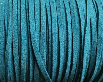 Turquoise Blue Ultra Micro Fiber Suede Faux Suede 3mm 6 yards