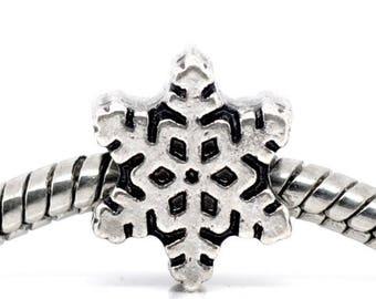 1 Pearl star snowflake snow 12 * 10 mm p/bracelet charms