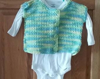 Littlegirl sweater vest with new Gerber Onesie