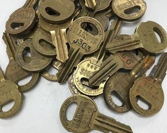 Illinois Lock Co Keys- Set of 25