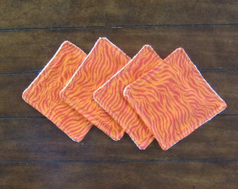 Sale! Orange Zebra Washcloths
