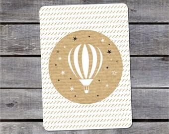 Postal card {Montgolfière}