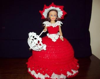 crochet doll jewelry box for girls