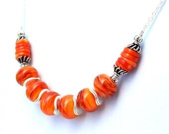 Orange Necklace for Her
