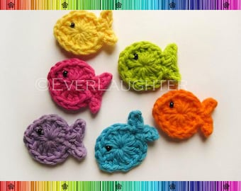 PATTERN-Crochet Fish Applique-Detailed Photos