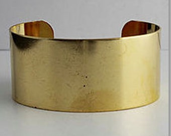 "2 Brass Cuff, 1 1/8"" wide, Wide Cuff, Bracelet, Bangle"