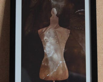 Pearl Necklace Fake Woman 1 - fine art, photograph print, framed, conceptual photography