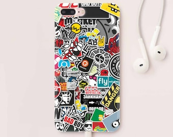 Sticker Bombing iPhone 7 iPhone 6S Case iPhone 7 Case iPhone 8 Plus Case Samsung Galaxy S7 Case iPhone 6 Plus Phone Case iPhone 5S CC1265