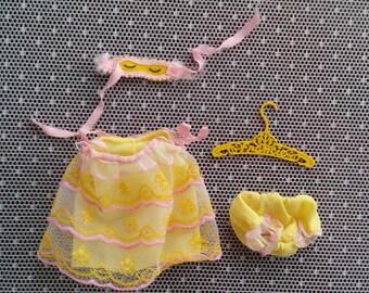 Francie Sleep Number 1967-68 Vintage Barbie Pajamas Incomplete Set