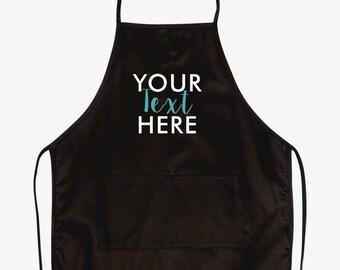 CustomTwo‑Pocket 28 Inch Apron / Custom logo apron / Custom Text apron / Cooking apron / Uniform / 28'' apron design / 2 Pocket apron