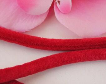 1 m cord 5mm red velvet
