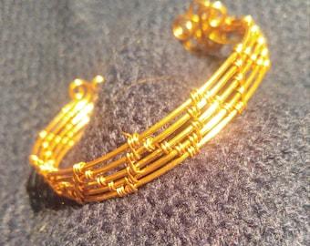 Copper Weave cuff, Simple Truth